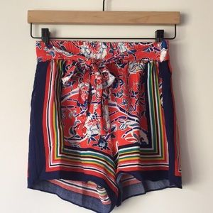 Anthropologie tie-waist shorts